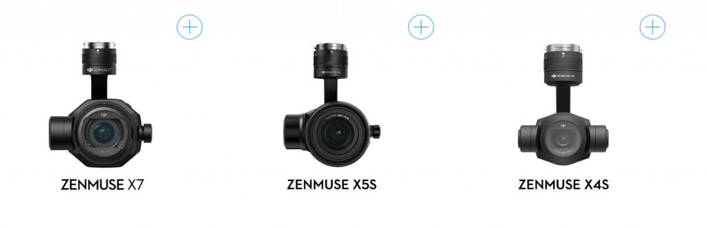 インスパイアの特徴!空撮のためにカメラレンズ交換方式