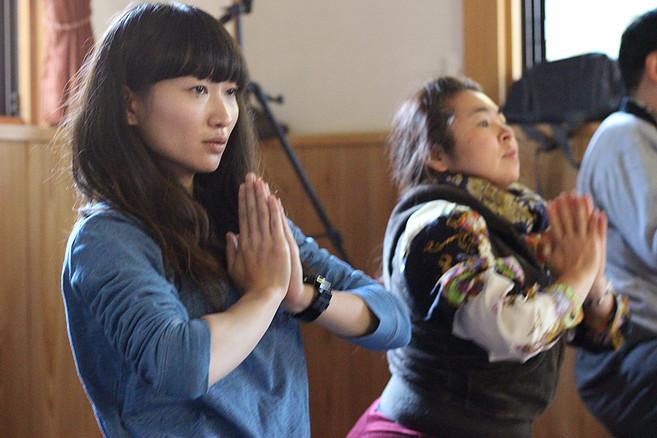 寺ヨガイベント写真