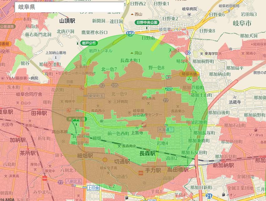 岐阜県でドローンを飛行許可なく飛ばせる場所を探してみた。
