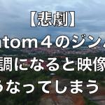 【悲劇】phantom4のジンバルが不調になると映像はこうなってしまう!!