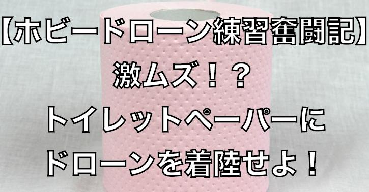 【ホビードローン室内奮闘記】激ムズ!?トイレットペーパーの上にドローンを着陸せよ!