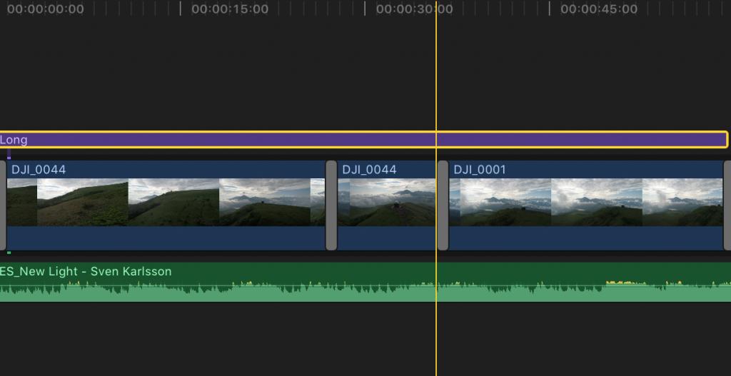 Final Cut Pro Xで全てレイヤーに同時にエフェクト編集をする方法