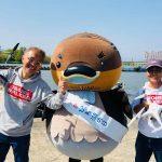 滋賀県のご当地キャラ野洲のおっさんをドローンで空から応援します。