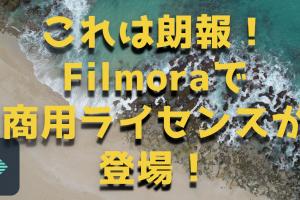 映像編集ソフトFilmora(フィモーラ)で商用ライセンスをとれば仕事で活用できるぞ!