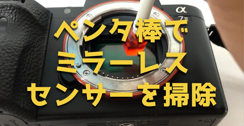 『ペンタ棒』でSONYミラーレスカメラのセンサーのゴミを掃除してみた