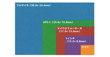 図解で分かる『センサーサイズ』画質の特徴と主なカメラ機種を紹介する