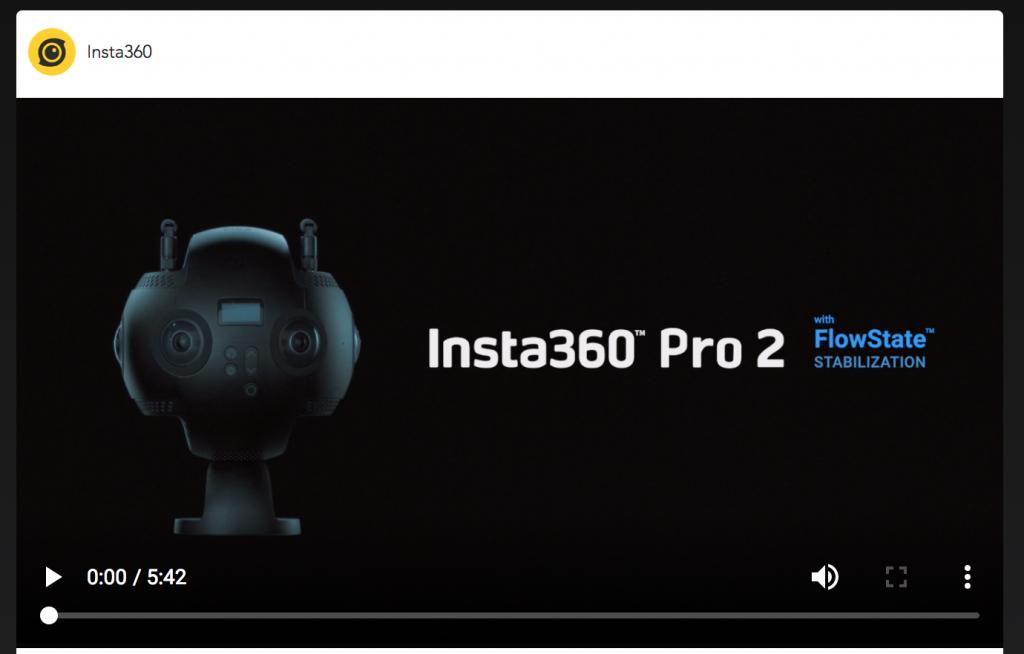 【Insta360 Pro 2】8K VR映像撮影可能な360度カメラ 8つの特徴
