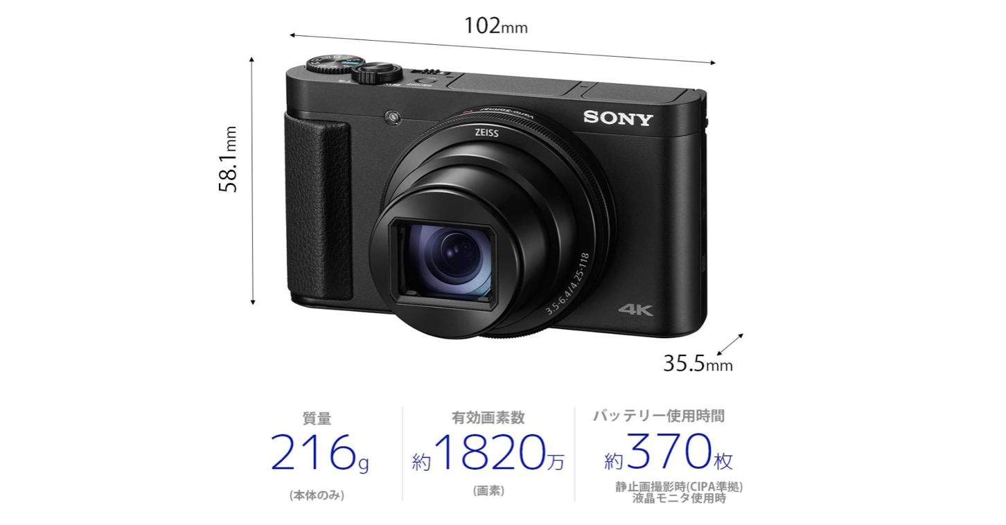 24-720mm撮影可能な『SONYサイバーショット DSC-HX99』って神カメラじゃ!?
