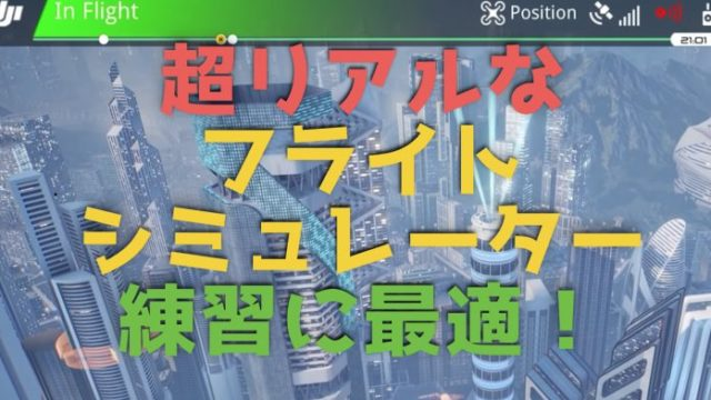 DJIの超リアルなドローン『フライトシュミュレーター』無料版もおすすめ!