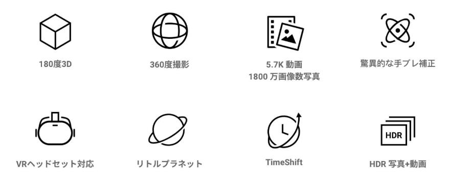 Insta360 EVO 8つの特徴