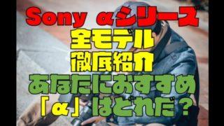 【ミラーレス一眼】Sony α(7Ⅲ・9・6400)全種類比較と選び方