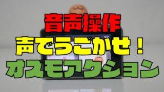 【コマンド一覧】OSMO ACTION(オズモアクション)は音声操作できる