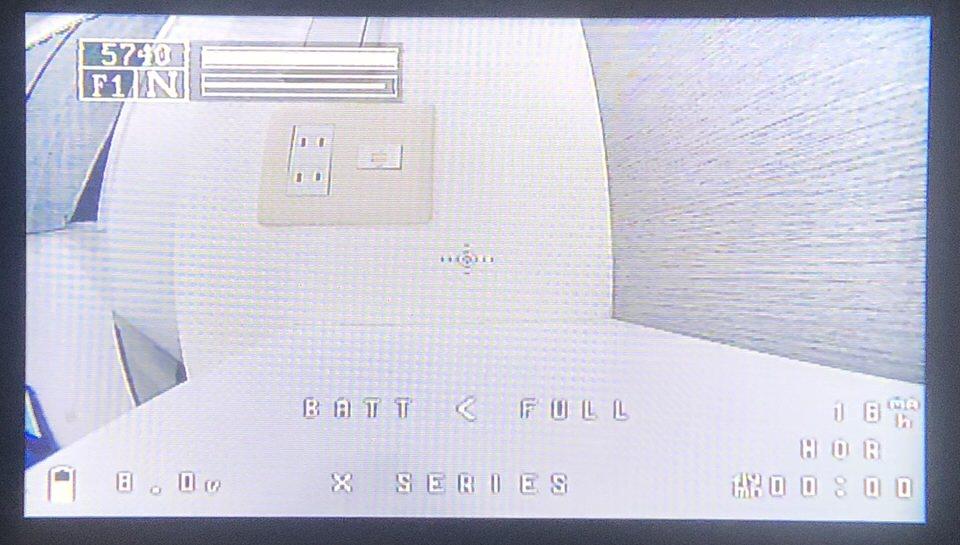 TRUE-D Xの映像 ※写真⑦ (左上に感度メーターが表示されています)