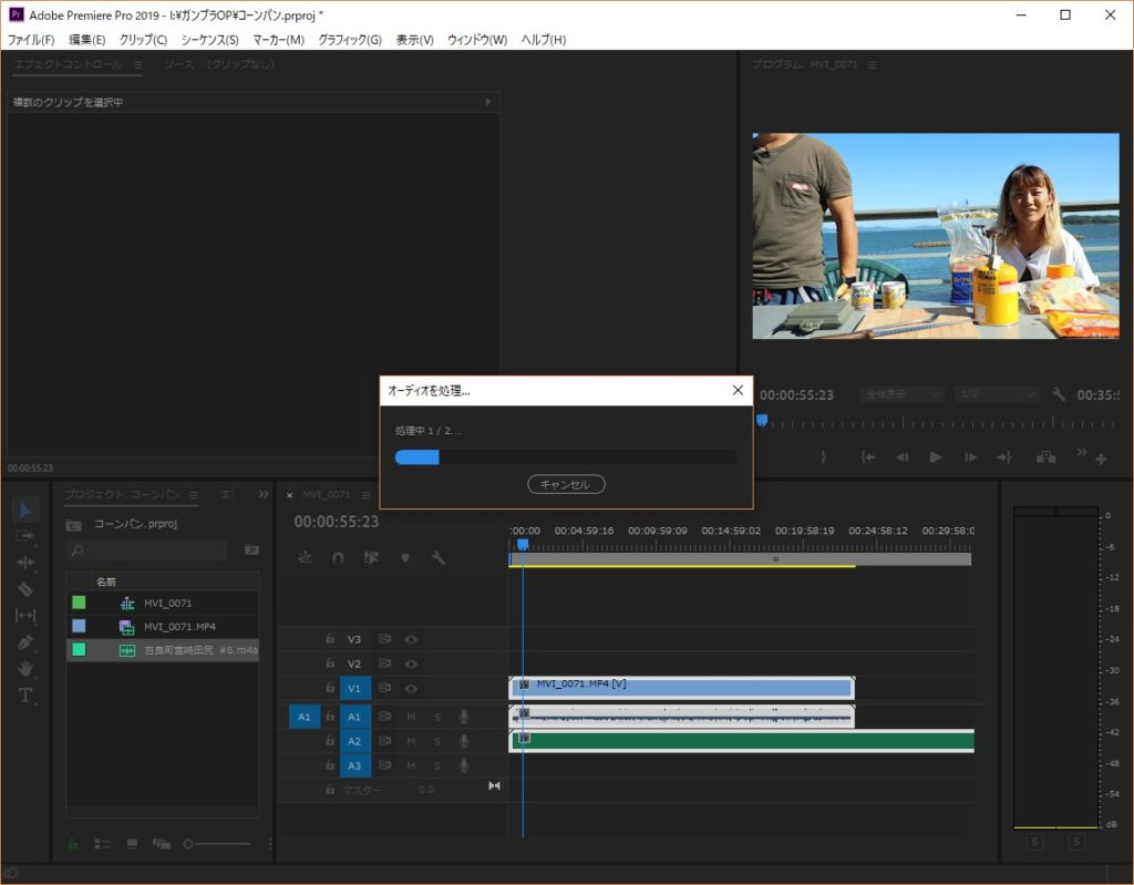 【Premiere Pro】別録りした音声と動画を同期(一致)させる方法
