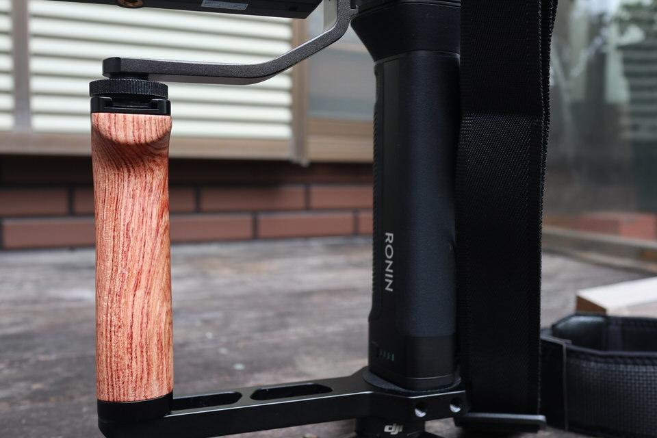 SMALLRIG RoninS/SC用木製サイドハンドル