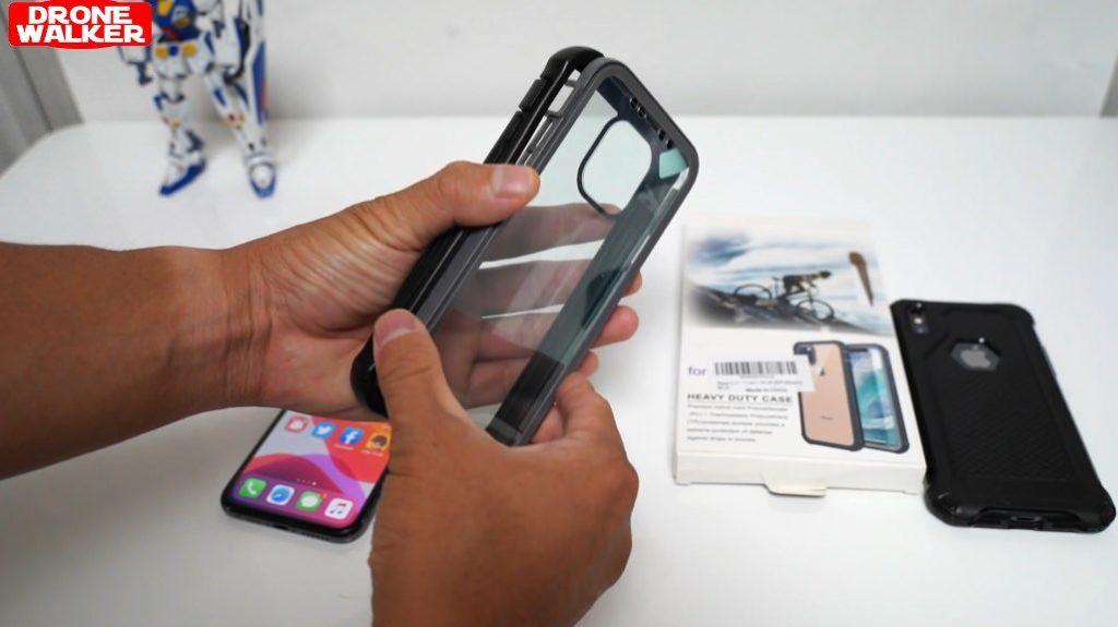 【米軍MIL規格】Besinpo iPhone11 Proケース 装着レビュー