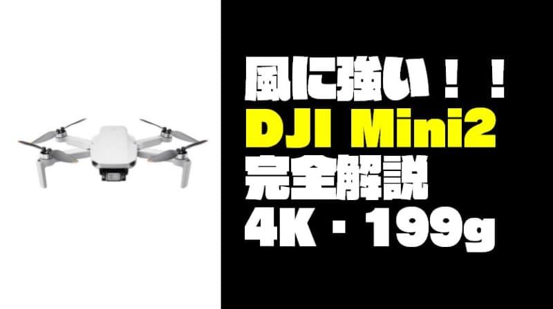 【最強の空撮入門機】『DJI Mini2』完全解説!4K・199g・風に強い!!